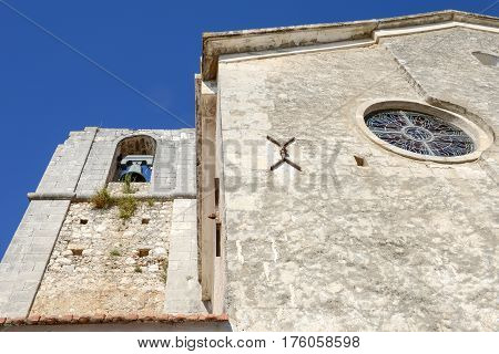 Peschici, Italy - 30 June 2016: The church of Madre di Sant'Elia in Peschici on Gargano Italy