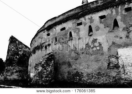 Fortified saxon church in the village Bod, Transylvania