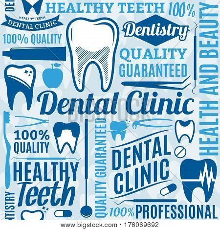 Dental Clinic Seamless Pattern Or Background