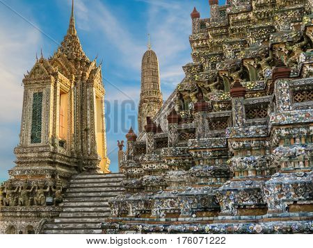 Ancient Wat Arun Temple or Temple of Dawn. Wat Arun Temple, Bangkok, Thailand