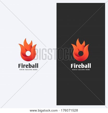 Abstract Fire Flame Shape Logo Design Template. Corporate Business Theme. Energy Power Concept. Simple and Clean Style. Vector.