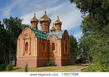 Russia.Omsk Region, the restored Achairy Cross Women's Monastery