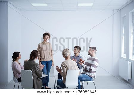Woman Talking During Psychotherapy