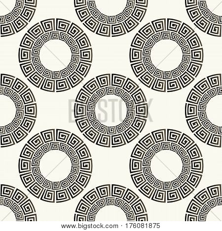 Seamless pattern. Stylish textile print with greek design. Greece meander fabric background.