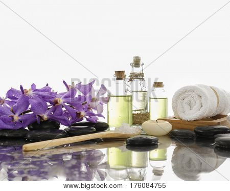 Spa Background with stones ,towel with spa set