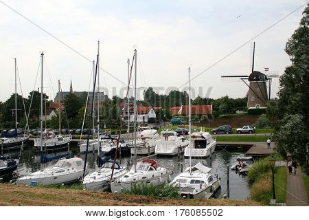 Brouwershaven Is A Small City On The Grevelingen In The Dutch Province Of Zeeland.