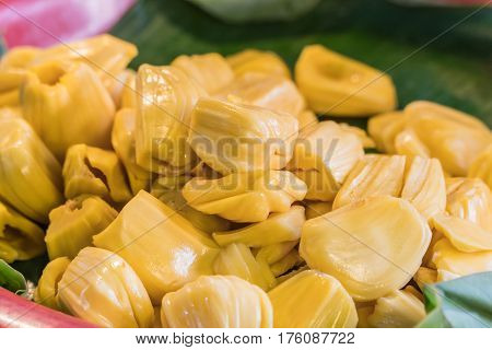 Peeled off Jackfruit in the local market