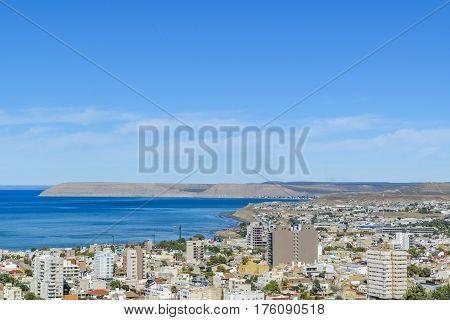 Aerial View Of Comodoro Rivadavia City, Argentina