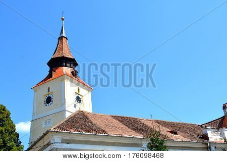Fortified saxon church in the village Bod, Transylvania, Romania