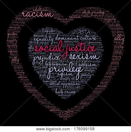 Social Justice Word Cloud
