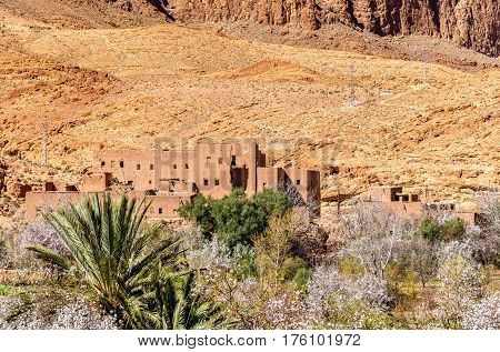 Oasis of the Todra River at Tinghir in Morocco