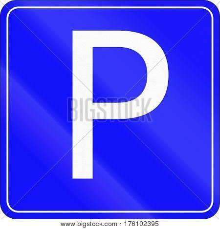 Belarusian Regulatory Road Sign - Parking Place