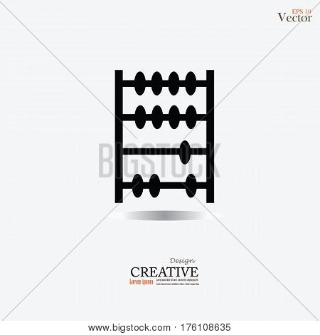 Abacus.old retro abacus icon. math sign.vector illustration.