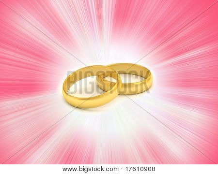 Rings in white background
