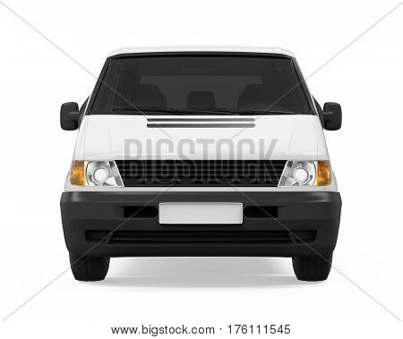 Delivery Van isolated on white background. 3D render