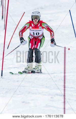 Ricardo Brancal During The Ski National Championships