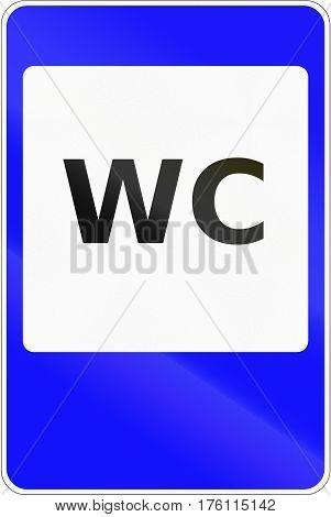 Road Sign Used In Belarus - Toilet