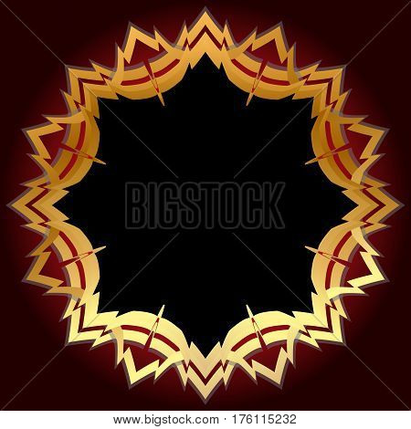 Shield golden gold vector design glossy symbol security emblem illustration.