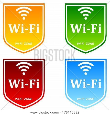 wifi zone area icon illustration internet network sign signal symbol.