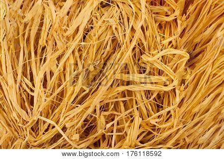 horizontal golden hemp fiber background texture pattern
