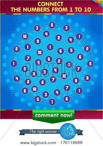 Visual Game Connect The Numbers From 1 To 10