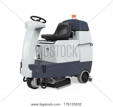 Rider Floor Scrubber isolated on white background. 3D render