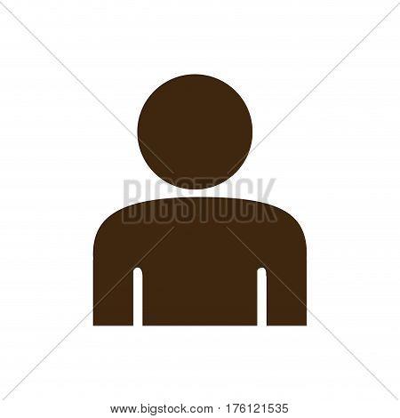 silhouette half body figure person icon vector illustration