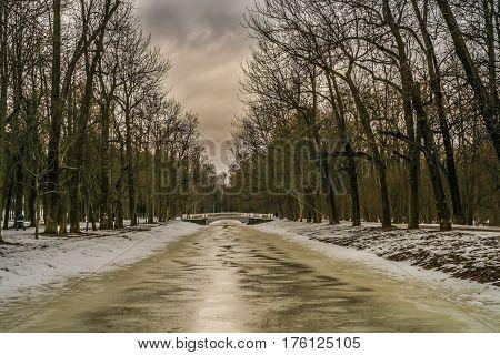 Bridge In Alexander Park In Tsarskoye Selo, Pushkin, Saint Petersburg
