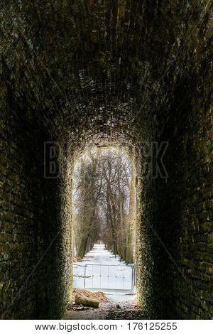 Tunnel In Alexander Park In Tsarskoye Selo, Pushkin, Saint Petersburg