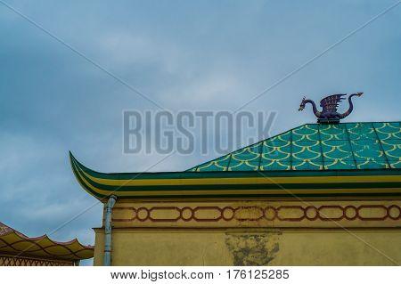 Dragon On The Roof Of China Village, Tsarskoe Selo, Pushkin, Saint Petersburg