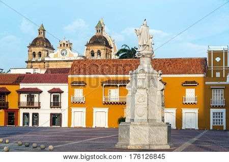 Aduana Plaza In Cartagena, Colombia