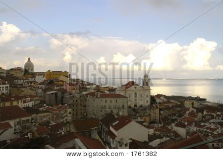 Lisbon At Dusk