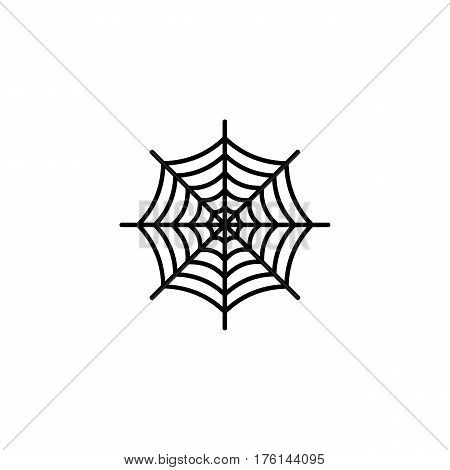 Spiderweb icon isolated on white background. Vector art.
