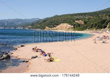 Cala Gonone Beach On Sardinia, Italy