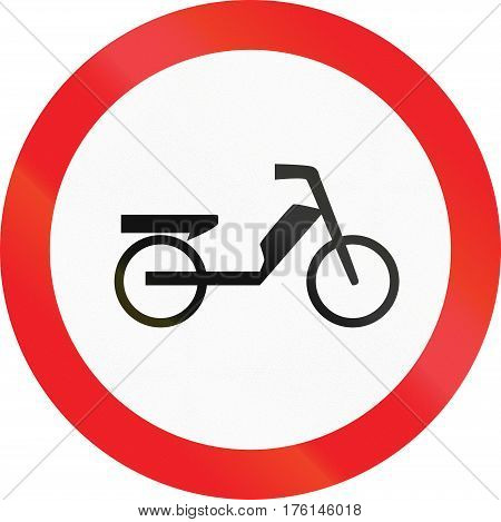 Road Sign Used In Cyprus - No Mopeds