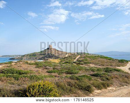 very nice view of sardegna coastline in italy