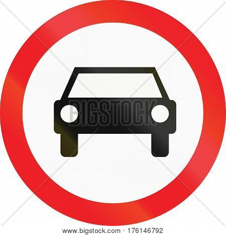 Cyprian Regulatory Road Sign - No Motor Vehicles