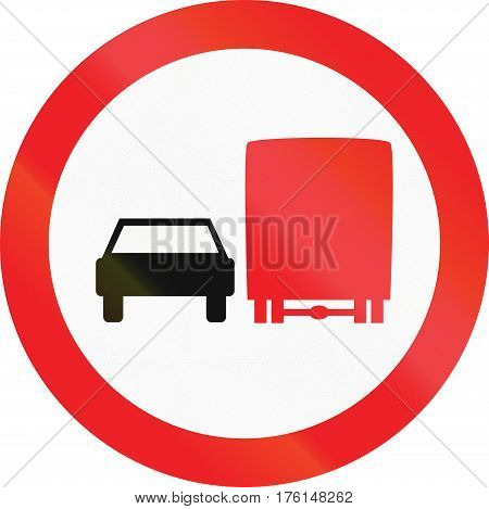 Cyprian Regulatory Road Sign - No Overtaking For Trucks