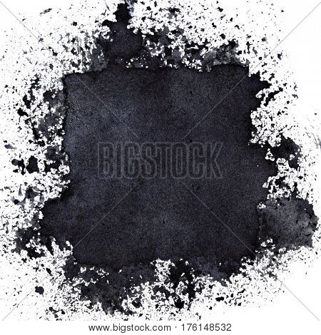 Hidden Black Square. Abstract background. Raster illustration