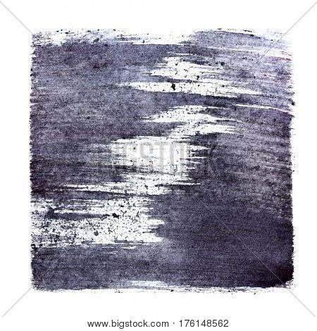 Buish stenciled square. Abstract background.