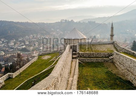 Fortress in old town Travnik - Bosnia and Herzegovina