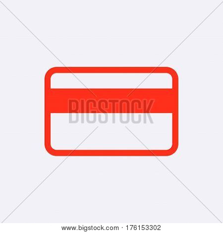 card credit  icon stock vector illustration flat design