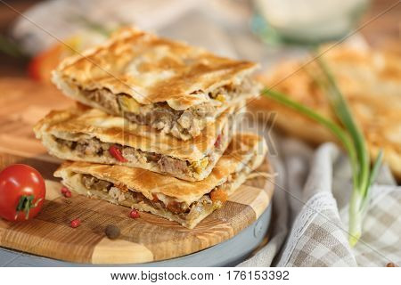 Meat Pie With Appetizing