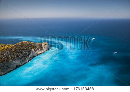 Coastal Landscape Of Navagio Bay, Greece