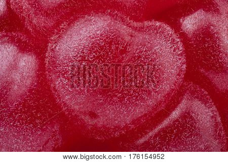 Raspberry through the microscope with high magnification