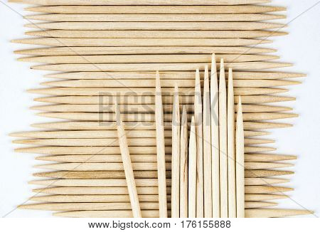 abstract background or texture stored wooden toothpicks