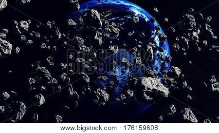 Thousands Of Asteroids Closing To The Earth Planet
