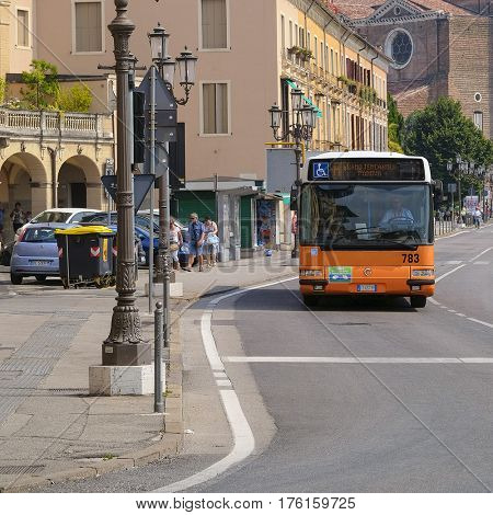 PADOVA, ITALY - JULY, 9, 2016: passenger regular-route bus in Padova, Italy