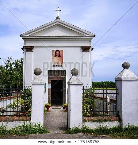 Church in Italian countryside
