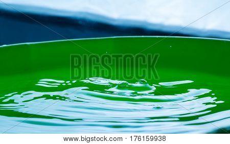 Close Up Of Splashing Droplet